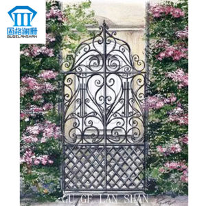 High Quality Crafted Wrought Single Iron Gate 011 pictures & photos