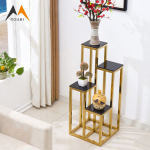 Factory Wholesale Unique Modern Gold Metal Flower Stand