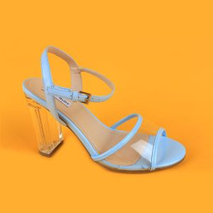 d013a63e45b7 China Lady Transparent High Heel Blue Strappy Sandals for Women ...