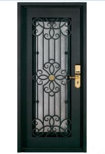 Chinese Iron Art Steel Door Security Gate Grill Design Wrought Front Doors