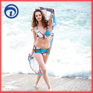 Lady′s Halter Shaping Body Three-Pieces Swimsuit, Swimdress