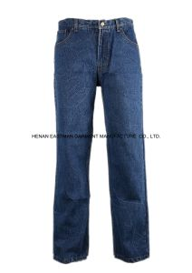 100%Cotton Jeans Pants Casual Wear Pants Cheap Denim Trousers pictures & photos