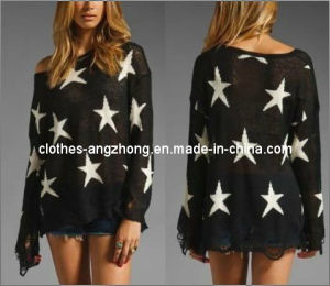 New Arrive High Quality All-Match New Fashion Sex East Knitting Women Pullover Knitwear Wildfox Sweater Star Tops