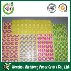 2014 Best Price Custom Large Number Stickers