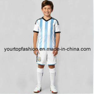 96ca7bc51fc 2014 Argentina Home Messi Higuain Kun Aguero Di Maria Lavezzi Kids and Youth  Soccer Jerseys, Wholesale Argentina Football Jerseys for Kids and Children.