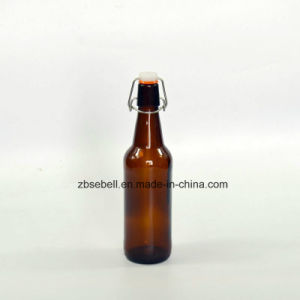 500ml Flip Top Glass Beer Bottles with Amber or Clear Color pictures & photos