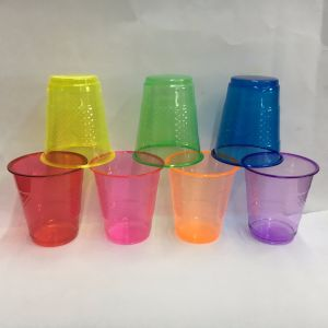 7oz Disposable Pet Colored Plastic Cup