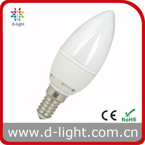 Plastic AC220-240V 3W Candle Competitive Price LED Bulb