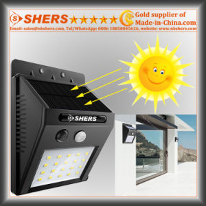 20 SMD LED Solar Sensor Light with Adjustable Brightness Function (SH-2006A)