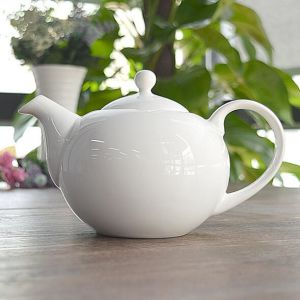 Customize Ceramic White Tea Pot Porcelain Plain White Coffee Pot pictures & photos