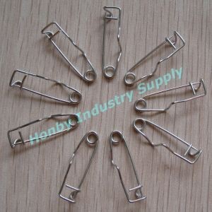 Decorative 32mm Bank Using Steel Crimp Bank Safety Pins