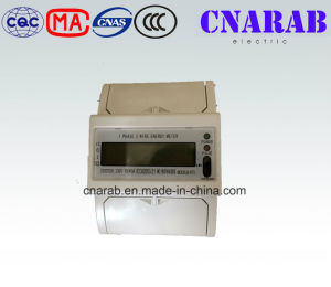 Single-Phase Two-Wire Electronic DIN-Rail Active Energy Meter with Infrared Communication (4-Pole, LCD Display) pictures & photos