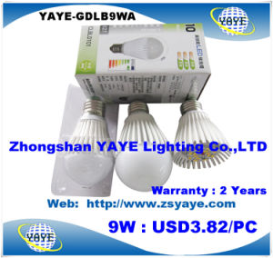 Yaye Hottest Sell Dimmable LED Bulb 9W / E27 Dimmable LED Bulb / Aluminum Dimmable LED Bulb 9W pictures & photos