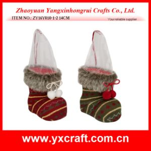 Christmas Decoration (ZY16Y010-1-2 14CM) Christmas Flower Pot pictures & photos