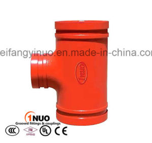 Ductile Iron Grooved Threaded Reducing Tee with FM/UL Approval 300psi pictures & photos