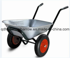 Double Wheel Garden Wheelbarrow (Wb6406)