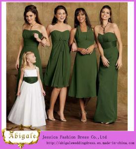 c424f9cd8e0 China Chiffon a-Line Strapless New Design Olive Green Bridesmaids Dresses  (MI 3516)
