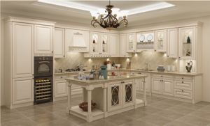 China White Solid Wood Country Style Kitchen Cabinet Door China