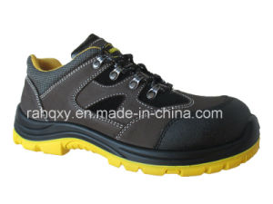 New Crazy Horse Leather and Suede Safety Shoes (HQ08001) pictures & photos