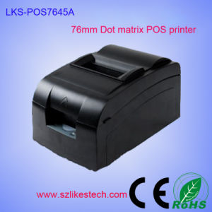 China CE Approved Desktop 76mm POS DOT Matrix Printer (LKS-POS7645A