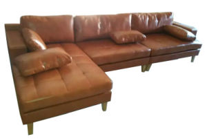 Modern Leather Sofa for Home Furniture (G1739) pictures & photos