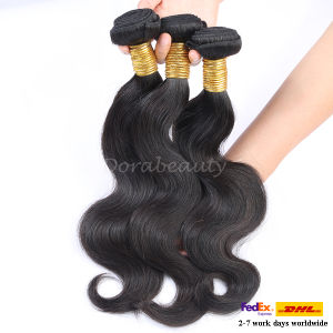 Brazilian Curly Human Hair Weft Extensions 1b Color Virgin Hair pictures & photos