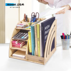 Wooden DIY Magazine Holder with Drawers D9116