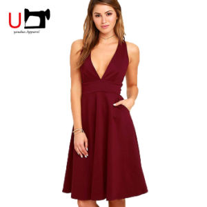 Dresses Women Patry Sexy Sleeveless Deep V-Neck Dress for Cocktail Party Dresses Women Patry