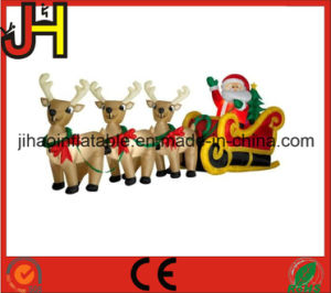 customized inflatable christmas decoration inflatable santa sleigh for sale