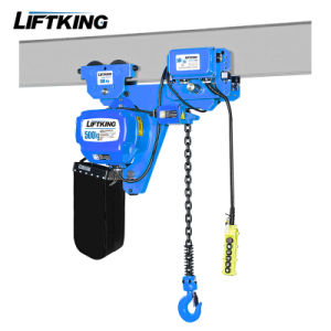 Ce Approved 0.5t Ultra Low Headroom Electric Chain Hoist pictures & photos