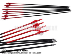 China Carbon Arrows with Turkey Feather for Traditional Archery Bows