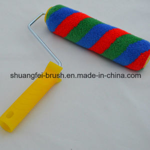 "9""Pile 12mm Red, Blue & Stripe Paint Roller with Plastic Handle for All Painting pictures & photos"
