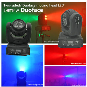 64W RGBW Duoface Moving-Head Spot LED Stage Light pictures & photos