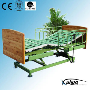 Three Functions Wooden Electric Homecare Bed (XH-5) pictures & photos