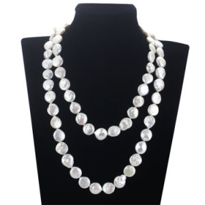 12mm White AA Unique Bridal Pearl Necklace Knot