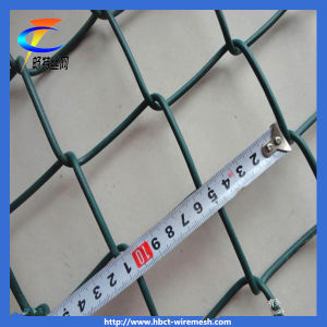 PVC Coated Diamond Wire Mesh, Chain Link Fence pictures & photos