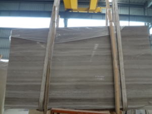 Chinese White Wooden Marble Slabs