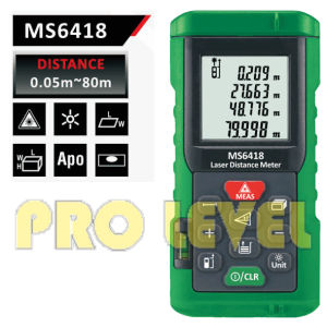 Professional 80m Laser Distance Meter (MS6418) pictures & photos