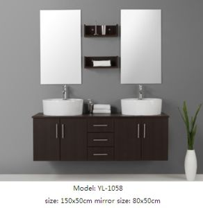 Double Sink Bathroom Furniture with MDF Veneer