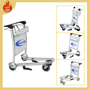 3 Wheels Stainless Steel Luggage Baggage Trolley for Airport pictures & photos
