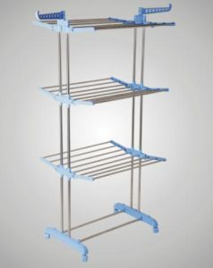 China Three Layer Stainless Steel Multifunctional Clothes Rack MR