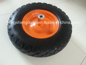 Pneumatic Wheel Big Diamond for Barrow Have Iron Rim