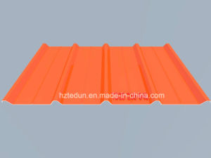 Metal Prepainted Trapezoid Panel for Facades and Wall Cladding (pure orange2004) pictures & photos
