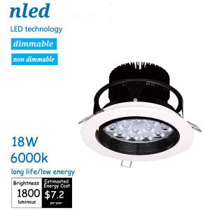 Long Life & Low Energy 18W LED Down Lamp