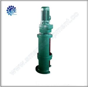 Water treatment use of helical gear box