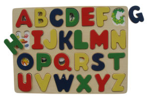 Wooden Alphabet Puzzle Upper Case pictures & photos