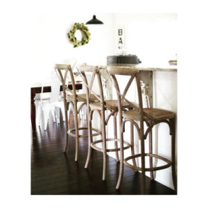 Rattan Commercial Cross Back Bar Chairs