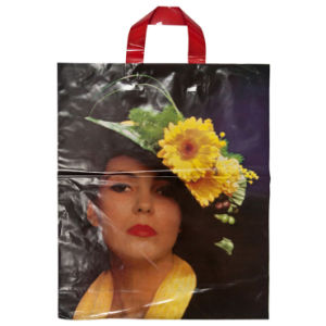 LDPE Custom Printed Carrier Bags for Cosmetic (FLL-8379)