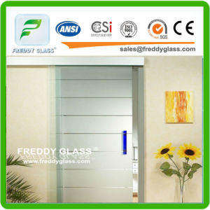 14mm Frosted Door Glass/ Bathroom Glass/Acid Etched Glass pictures & photos