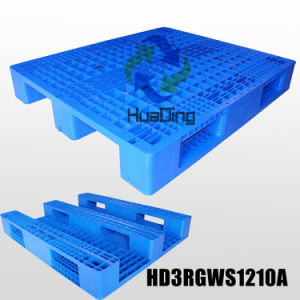 L1200*W1000*H165mm Heavy Duty 3 Runners Closed Deck Hygeian Plastic Pallet pictures & photos